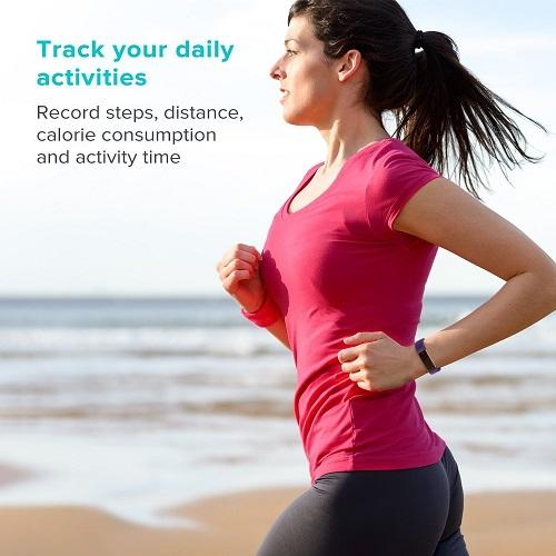 Runme Fitness Armband tägliche Aktivitäten