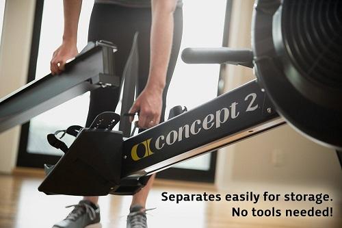 Concept2 Indoor Rower einfach zu lagern