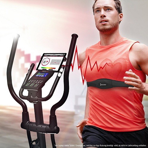 Sportstech CX2 inklusive Herzfrequenzmessung