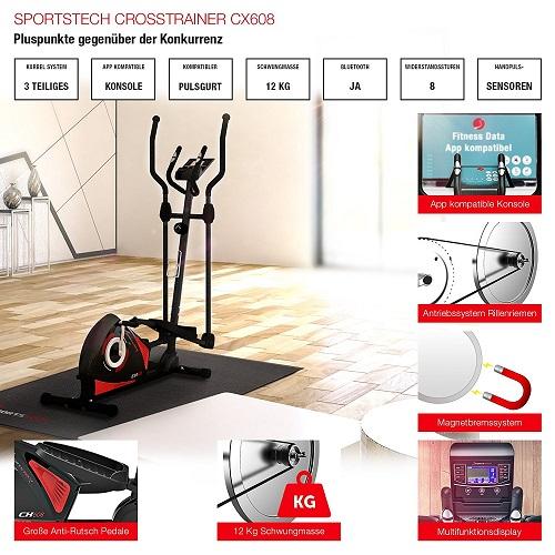 Sportstech CX608 Vorteile